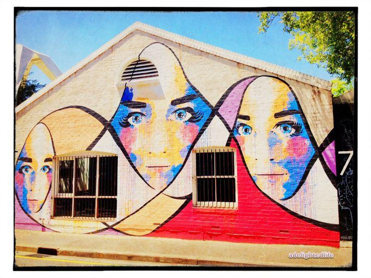 Flying nuns street art Adelaide