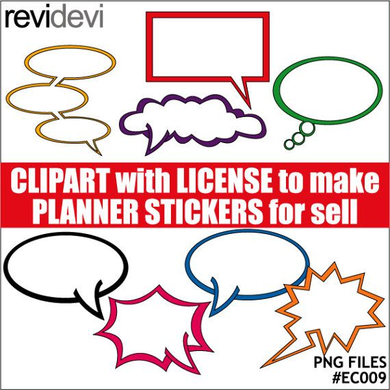Superhero talk speech bubble clipart  commercial by revidevi