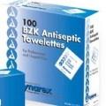 Benzalkonium Chloride Wipes (BZK Wipes) Antiseptic, Box of 100