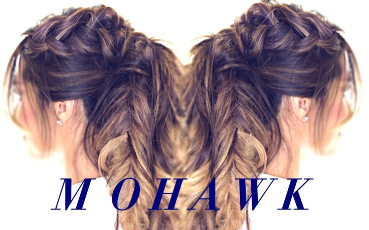 Mohawk BRAID Ponytail | Cute #Hairstyle for #fall