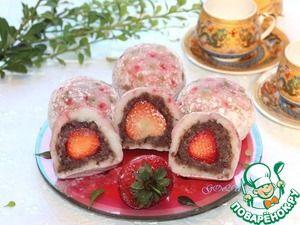 Японские сладости дайфуку с клубникой