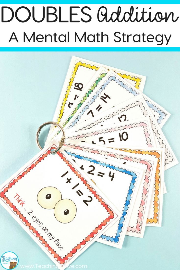 Doubles addition facts can learned using a mental math strategy. This pack contains 22 worksheets, doubles posters for each double to 20 and 3 games, all designed to teach and consolidate your student's knowledge of their doubles facts.