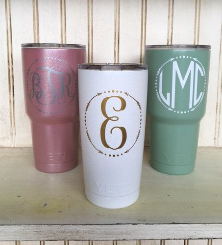 Personalized 20oz or 30oz Yeti Cup by ParishGoods on Etsy