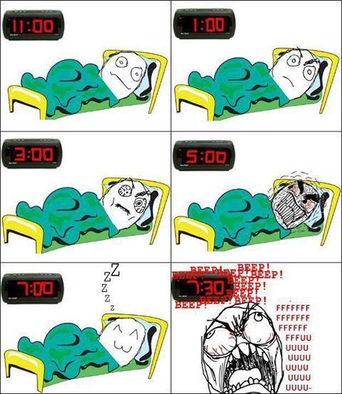 10:30 Me voy a dormir a las diez y media. Yo, al menos, trato de dormir.