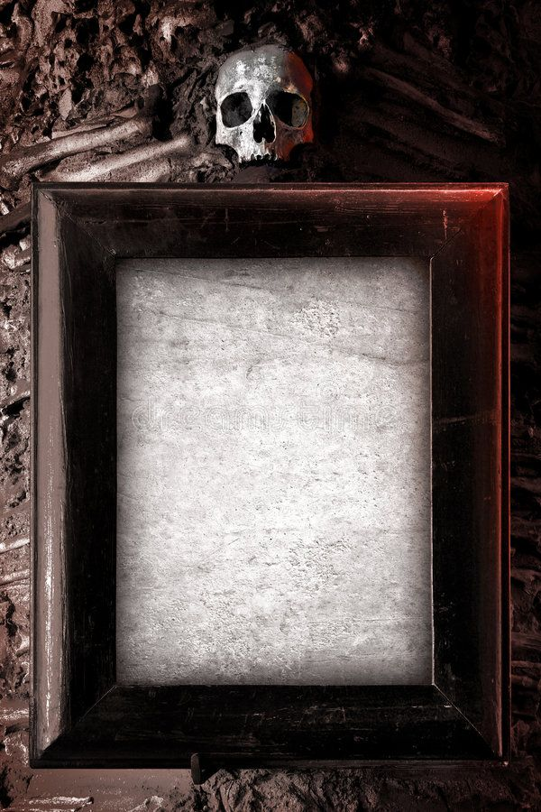 Creepy Frame Old Wooden Frame And Blank Paper Hanged On A Wall With Skull On To Affiliate Frame Blank Wooden Cre Frame Creepy Nail Designs Tutorial
