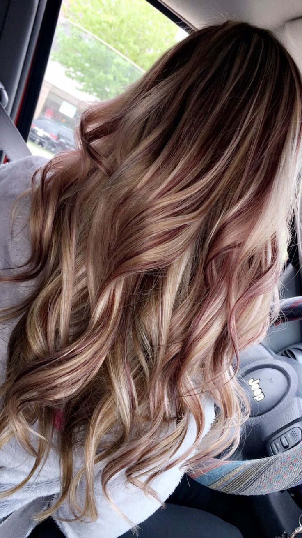 burgundy blonde hair ideas