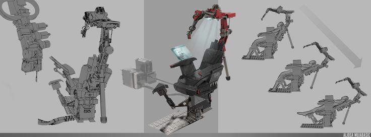 ArtStation - Tattoo Robot, Aljosa Mujabasic
