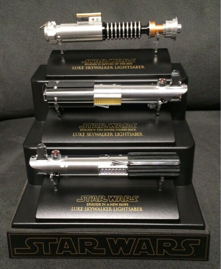Master Replicas Luke .45 Lightsaber Mini EP4,5,6 Complete Set w/Display Case 788
