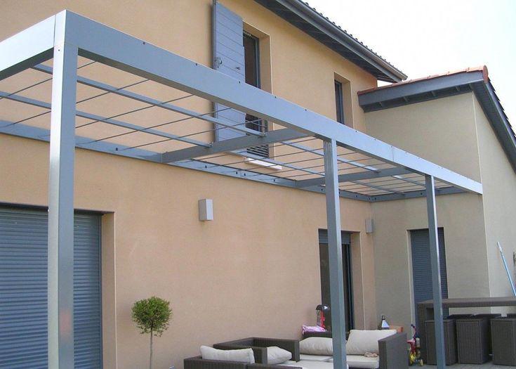 Pergolas moderne en aluminium avec toile tendu solaire #pergolas - toile tendue pour terrasse