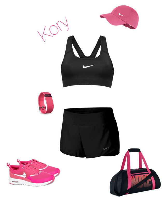 """S"" by cory84 on Polyvore featuring NIKE and Fitbit"