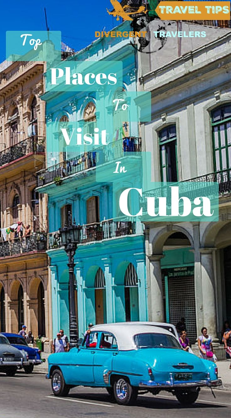 Top places to visit in Cuba. If you have limited vacation time or don't mind traveling ultra fast, you can easily see all the main cities including Havana, Viñales, Trinidad, Cienfuegos, Camaguey, Santiago de Cuba, Holguin and Baracoa with 14 days in Cuba. Click to read the full travel blog post at http://www.divergenttravelers.com/two-week-cuba-itinerary/