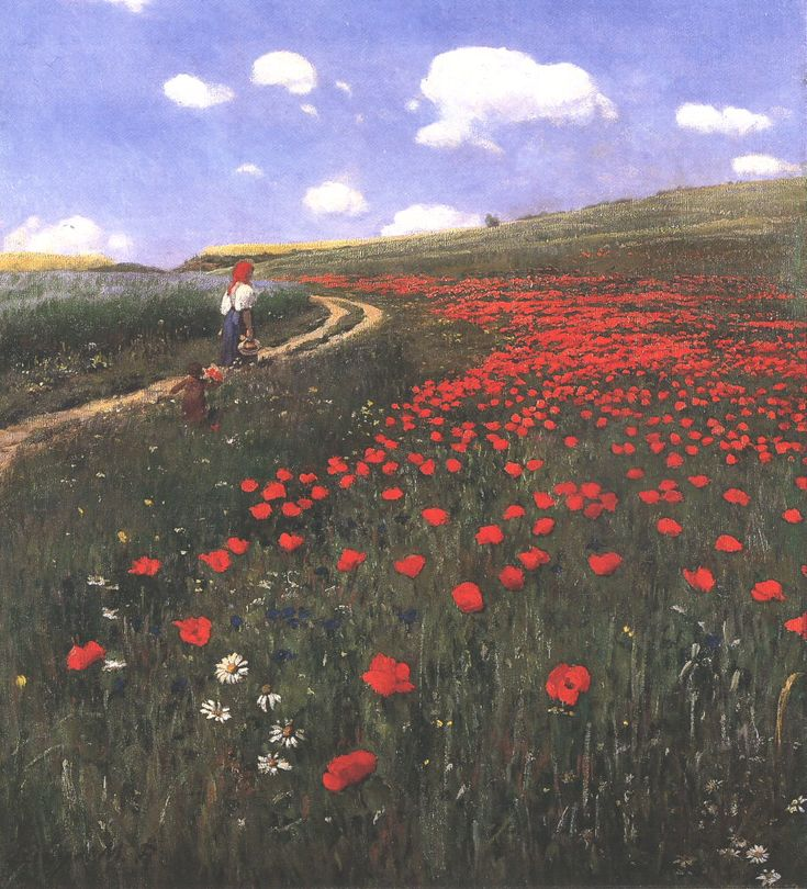 Poppies in the Field by Pál Szinyei Merse