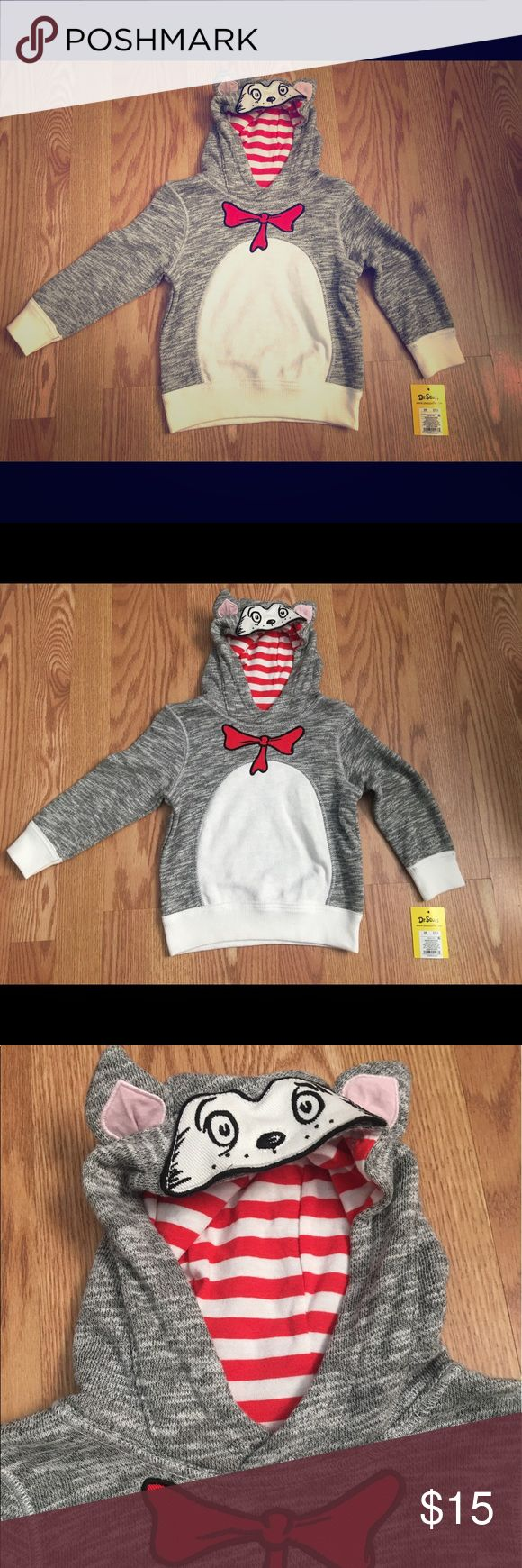 Dr. Seuss Cat in the Hat boys hoodie size 3T Size:3T Dr Seuss Shirts & Tops Sweatshirts & Hoodies