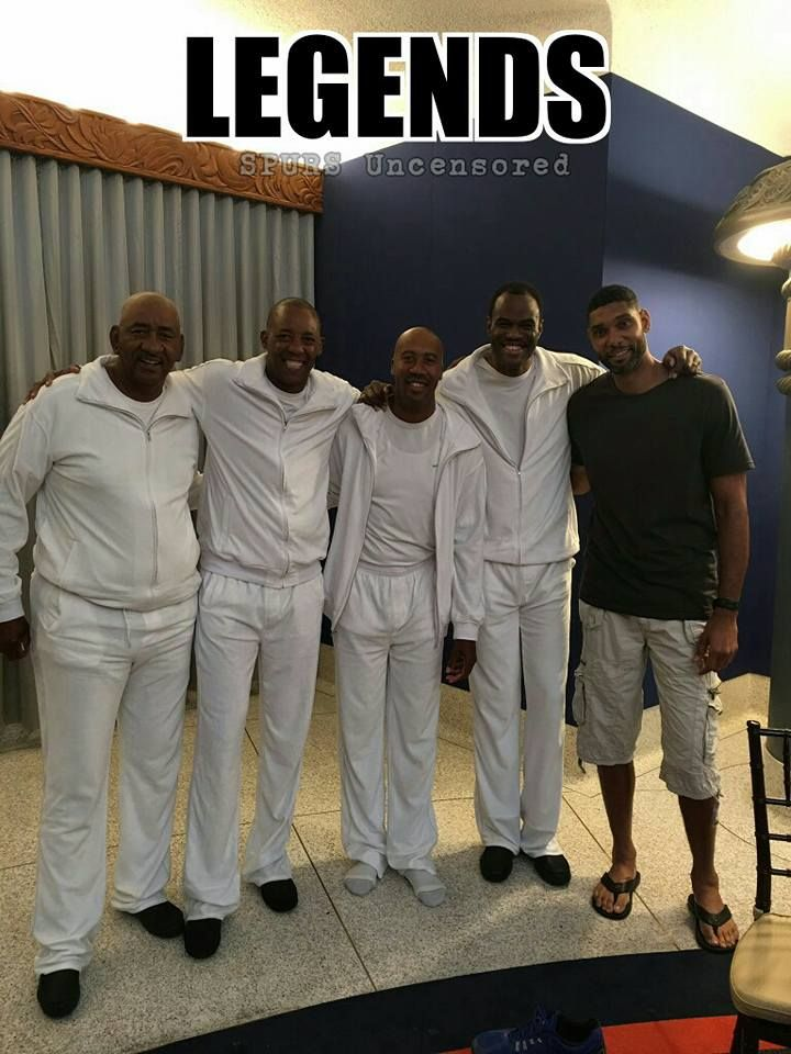 """The Iceman"" George Gervin, Sean Elliott, Bruce Bowen, ""The Admiral"" David Robinson, and Tim Duncan!"