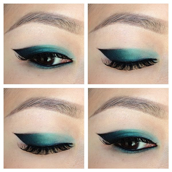 You can also focus more on the outer corners and then blend it into a shadow. | This Floating Eyeliner Hack Is A Game-Changer For People With Monolids