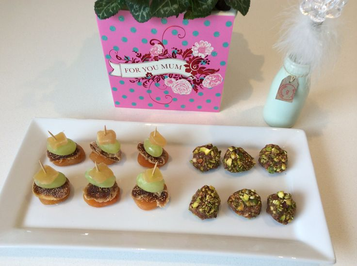 Pistachio nut balls and dried fruit treats .....easy peezy ! ... And popular !