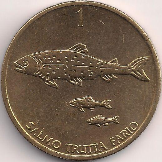 Wertseite: Münze-Europa-Mitteleuropa-Slowenien-Tolar-1.00-1992-2006