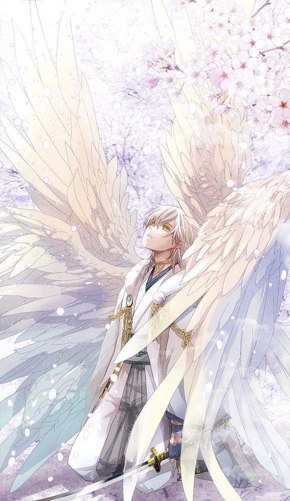 Anime demon boy and angel girl