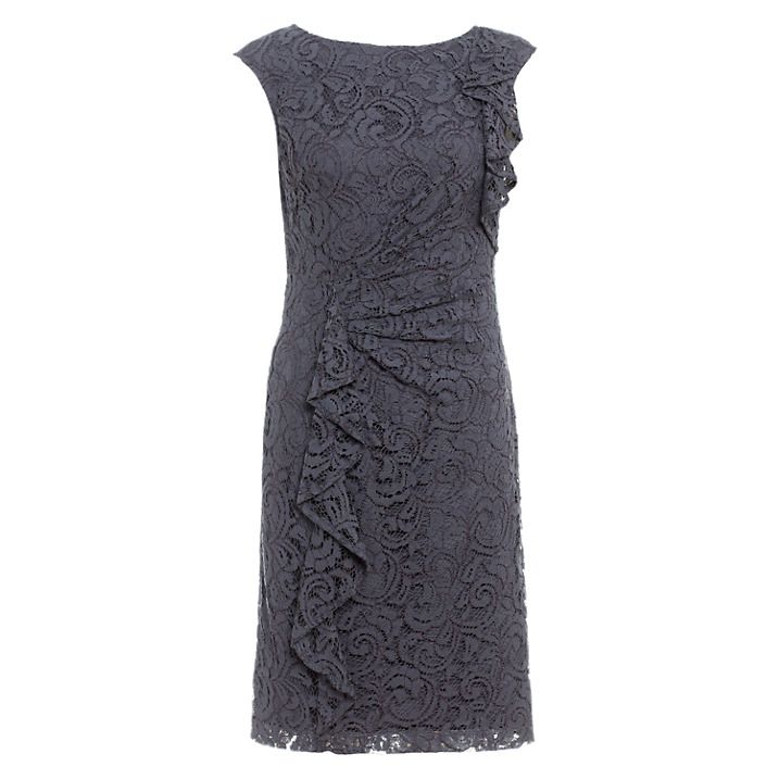 Adrianna Papell Lace Ruffle Dress, £140 www.johnlewis.com