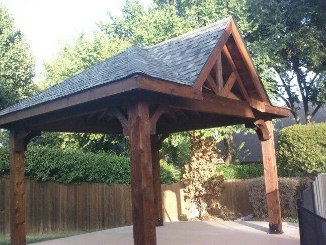 Gable Hip Roof Free Standing Cedar Patio Cover Patio