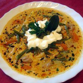 Tárkonyos zöldbableves gazdagon Recept képpel - Mindmegette.hu - Receptek