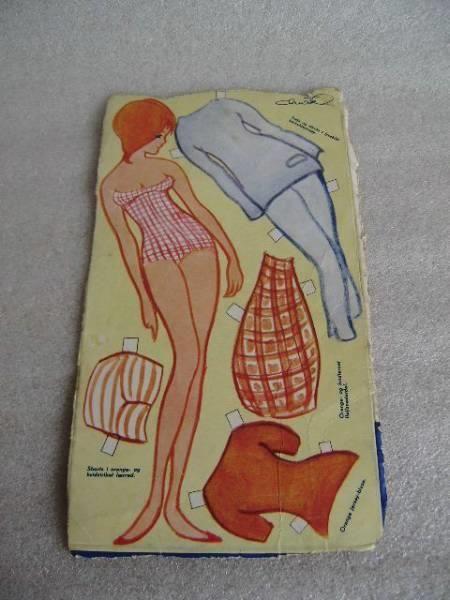 Påklædningsdukke på ark fra OTA - Christel