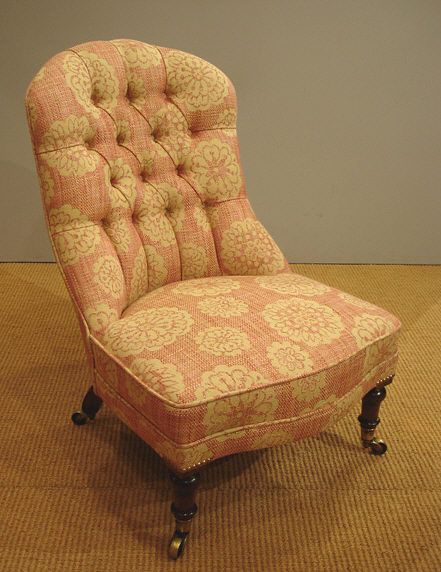 Upholstered armchairs, Sofas - Victorian button back nursing chair, raised  on mahogany turned legs - 21 Best Slipper/Nursing Chairs Images On Pinterest Armchairs