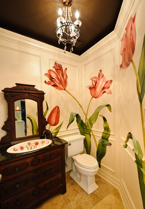 Mural by Ali Kay of Positive Space. 17 Best ideas about Bathroom Mural on Pinterest   Murals  Wall