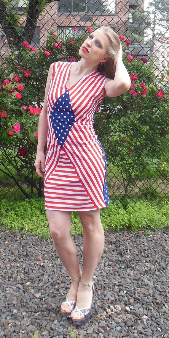 American Flag Dress Diamond shape AF003 Original by TanyaKolser