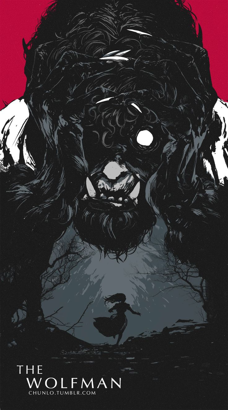 Awesome The Wolfman poster