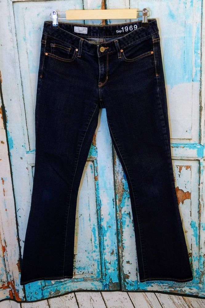 Women's Gap 1969 Curvy Jeans Size 27 Short Long Dark Wash Denim Stretch Boot Cut   Clothing, Shoes & Accessories, Women's Clothing, Jeans   eBay!
