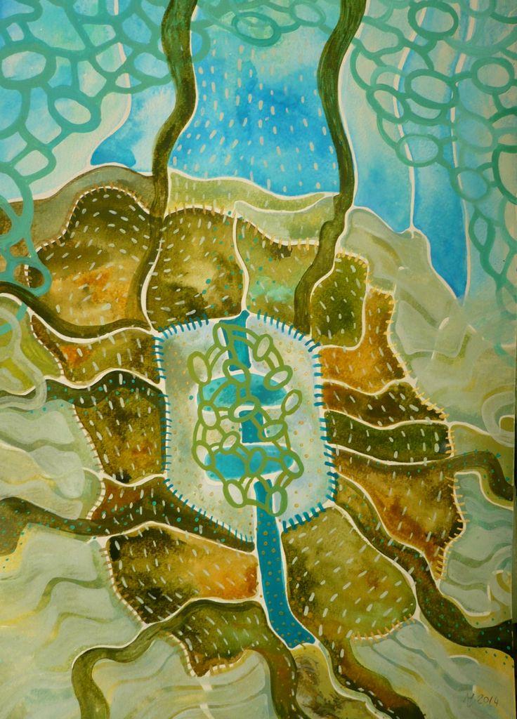 Atlantida Obraz pochází z nové kolekce obrazů vytvořených kombinovanou technikou, kterou jsme si upravila sobě na míru. Od kresby oblíbenými akvarelovými pastely jsem došla ke klasickému akvarelu. Akvarelové barvy jsou zkombinovány s akvarelovým pastelem, který po nastrouhání a rozpuštění ve vodě slouží jako běžné akvarelové barvy, pouze je sytější a ve větší ...