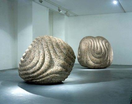 Peter Randall Page - Flayed Stone III & II 1998 Granite, 1499 x 139 x 101 cm