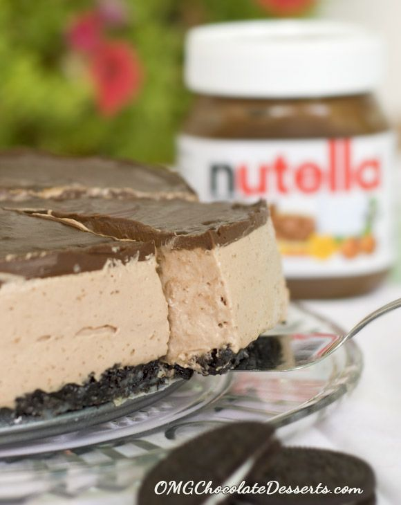 No Bake Nutella Cheesecake - OMG Chocolate Desserts