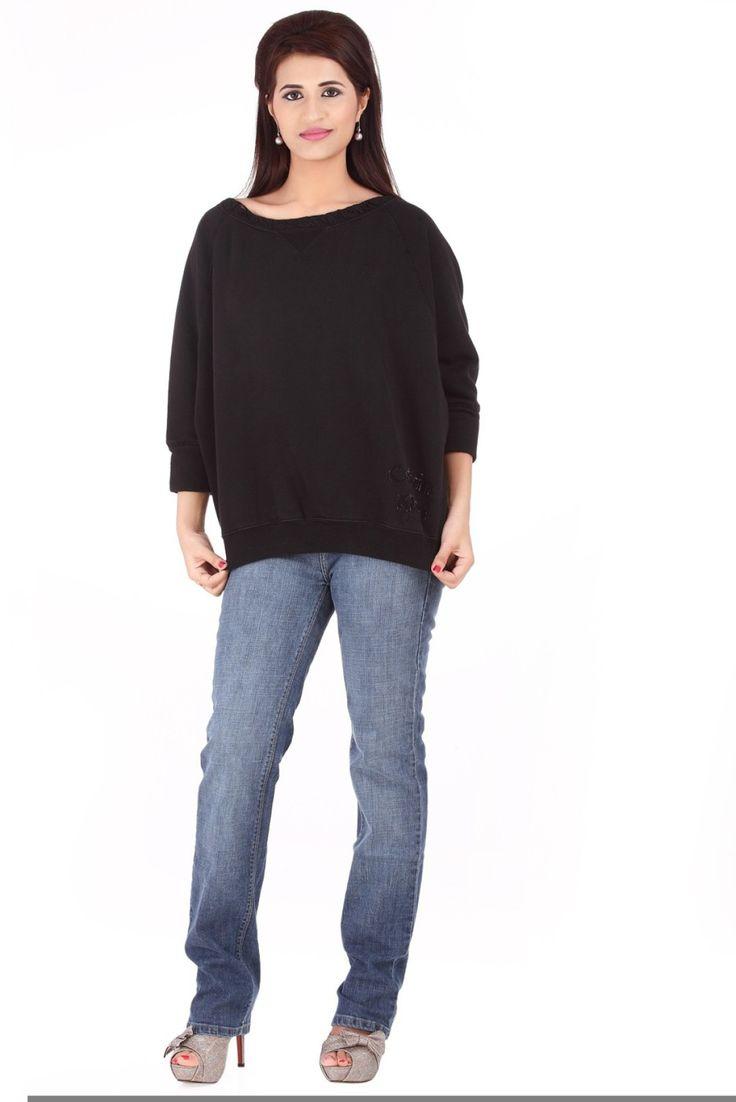 Calvin Klein Solid Round Neck Casual Women's Black Sweater - Buy Black Calvin Klein Solid Round Neck Casual Women's Black Sweater Online at Best Prices in India | Flipkart.com