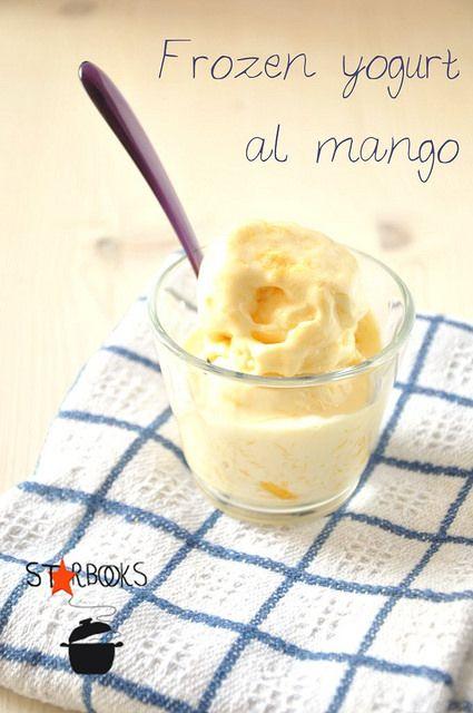 mango frozen yogurt SB, yogurt soia