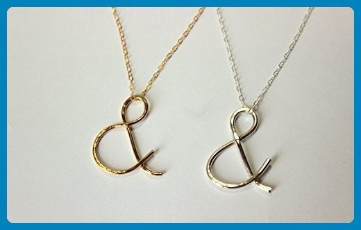 Ampersand & Sign Gold Filled or Sterling Silver Necklace - Wedding nacklaces (*Amazon Partner-Link)