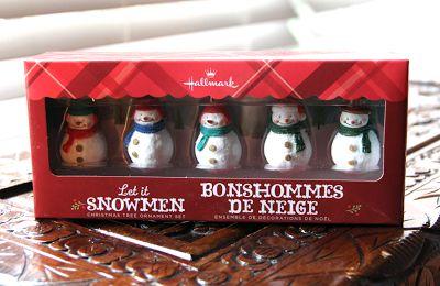 'Let it Snowmen' 5-piece mini snowmen ornament set - $14.95 #HallmarkPressPause