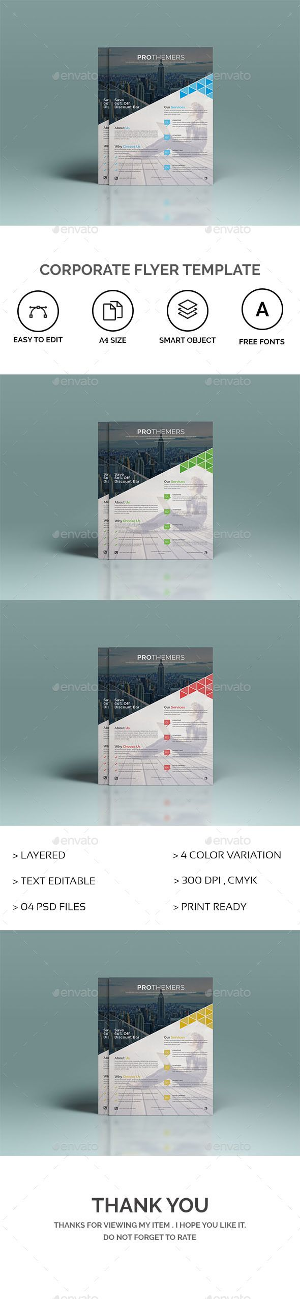 #Corporate #Flyer Template - Corporate Flyers Download here: https://graphicriver.net/item/corporate-flyer-template/20183047?ref=alena994
