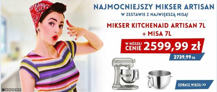 Since 2014 is a brand New Year, we wanted to introduce a brand new KItchenaid Mixer 7 Quart + Kitchenaid Bowl 7 Quart. NOWA PROMOCJA - Artisan 7 L + dodatkowa Dzieża 7 L http://madeinusa.com.pl/zestaw-kitchenaid-mikser-artisan-7-l-dodatkowa-dzieza-6-9-litra.html