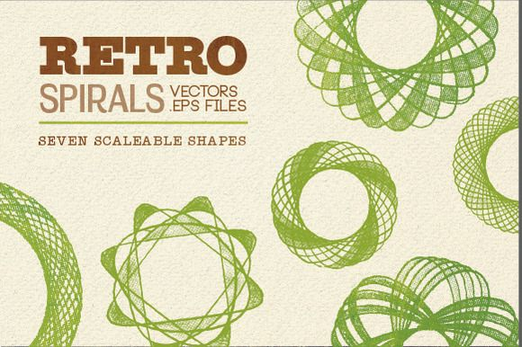 Scaleable Vector Retro Spirals by LydiaDistracted