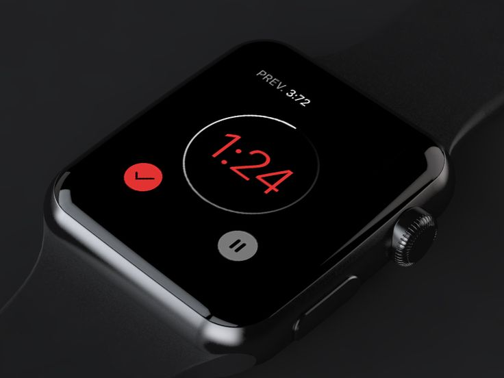 Timer App Concept for the Apple Watch