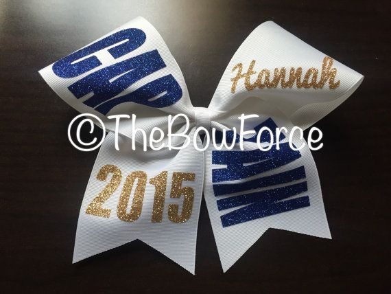 Captain Glitter Cheer Bow 242169882 by TheBowForce on Etsy