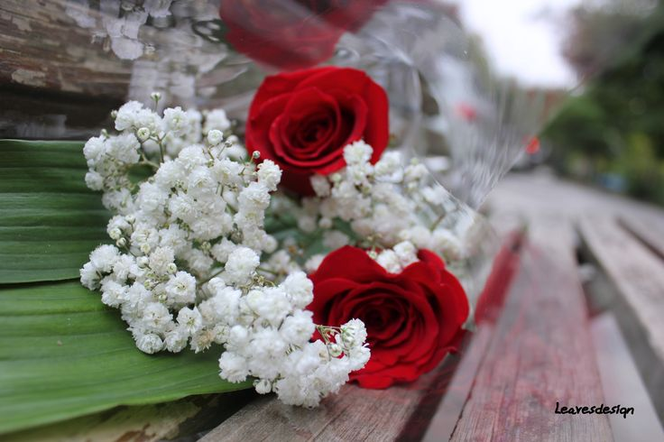 Ramilletes de rosa y paniculata para las damas de honor Ramo de rosas rojas y calas blancas con toque de paniculata #ramosdenovia #unico #exclusivo #diseño #flores #rosas #arreglosflorales #novias #celebracion #leavesdesign #damasdehonor #bodas