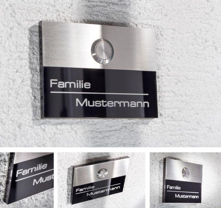 Edelstahl Klingelplatte Haustürklingel Klingel Türklingel gravur Taster schelle in Heimwerker, Fenster, Türen & Treppen, Türklingelanlagen | eBay!