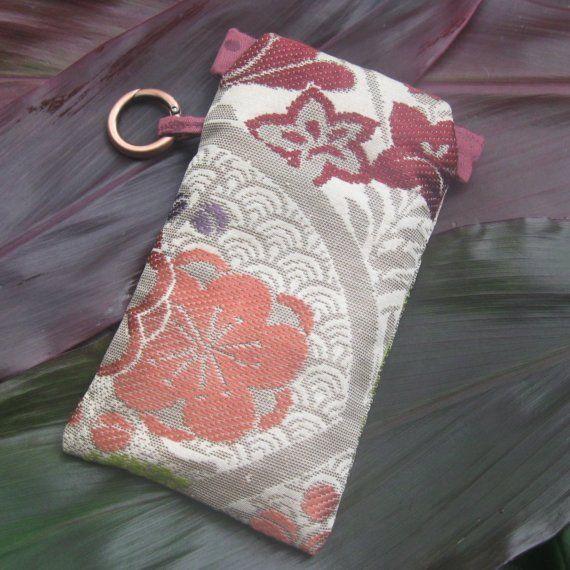 Vintage Kimono Flex Frame Accessory Pouch in Jewel by minadesigns, $38.00