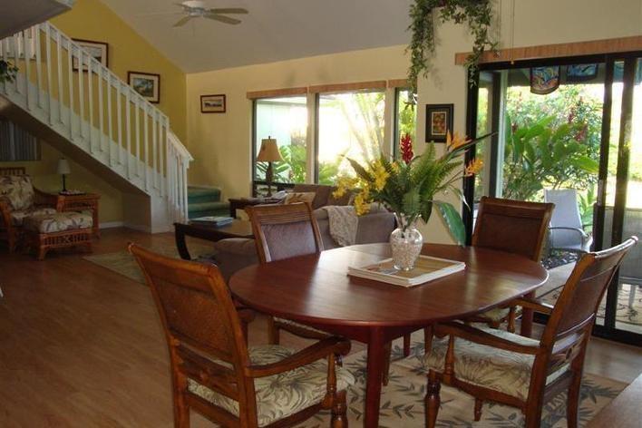 Tropical dining Kauai vacation rentals, Kauai vacation