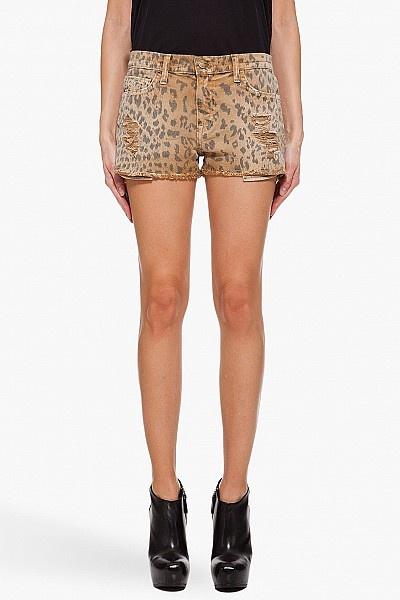 Leopard Print Boyfriend Shorts by Current-elliott