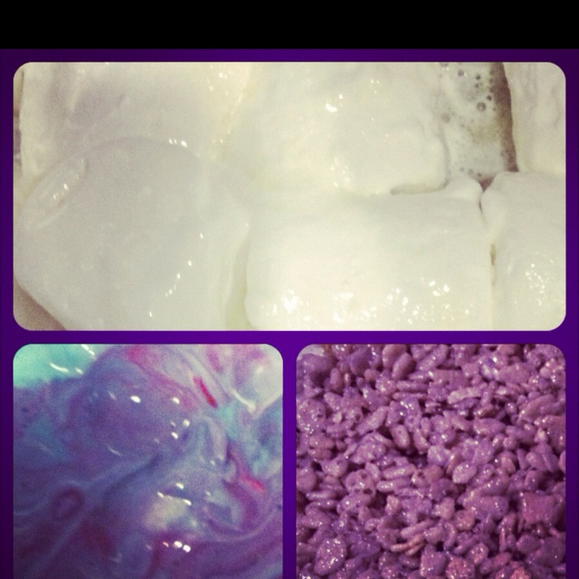 Purple Rice Krispies Red Blue Food Coloring Thank You