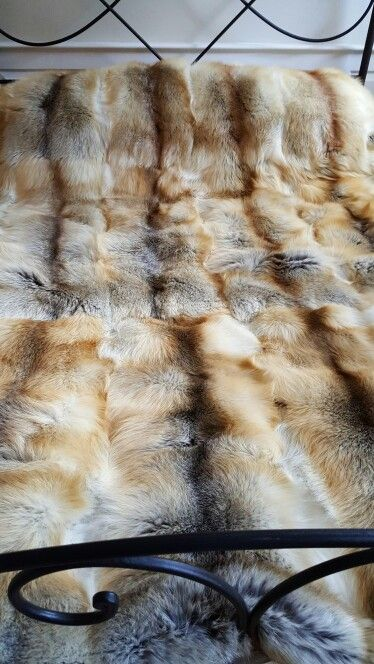 Red fox king size blanket. Sleeping under, or on top of, these 20 full skins is just amazing. Even in the summer they keep you cool. There are many more things to do under or over this exquisite blanket.